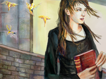 In Progress: Hermione with book by smallsmiles