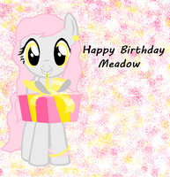 Happy (early) Birthday Meadow ^^ by JewelThePonyLover12