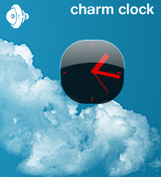 Charm Clock - for XWidget. by tchiro