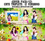 [Cover Pack#12] Cute Triplets (2Versions) by HanaBell1