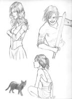 """""""The House"""" sketches by demented-cookies"""