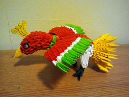 3D Origami Ho-Oh by pokegami
