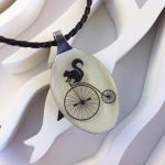 Squirrel Riding A Bicycle Handmade Spoon Necklce by JacDesigns