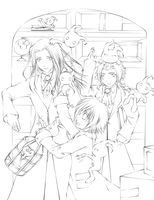 The Heartless Mishaps- Lineart by Yurushion