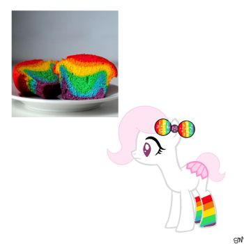 Rainbow Cupcake AUCTION by QueenBatgirl