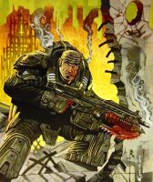 GEARS OF WAR, MARCUS FENIX by LOGANNINEFINGERS