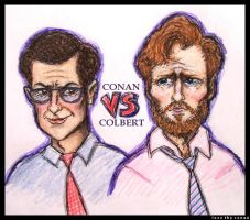 Conan VS Colbert by LoveTHYconan