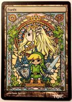 Forest, Link and Zelda (Wind Waker) by Toriy-Alters