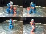 MLP FiM Blind Bag Repaint #7: Water Pony by inuyasha1086