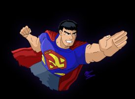 Commission - Superteen (DCAU Style) by OptimumBuster