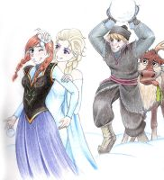Snow war by WinryElric