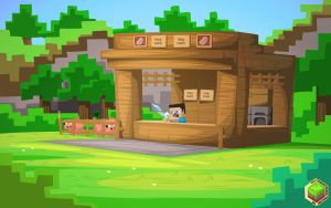 Minecraft Pork Shop by mysticalpha