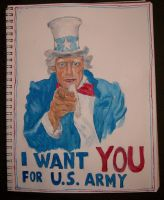 Uncle Sam WWI Poster by denalim
