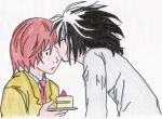 L loves Raito... and cake by bettinaminamino