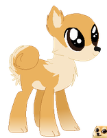 .:Gift Pone:. Shibe Pone For Cassy by angelinadraws