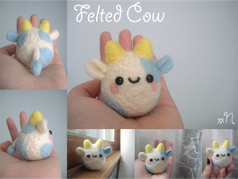 Felted Cow by xxNostalgic