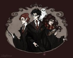 The Golden Trio by IrenHorrors