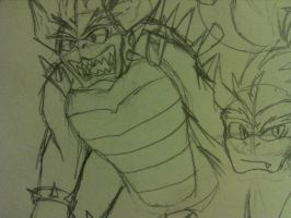 Giga Bowser sketch by MirageEnigma