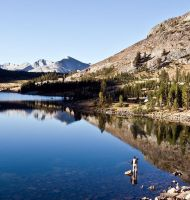 Fly Fisher Tioga Lake YNP by arches123