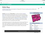 Having fun on Wikipedia (The real KIDZ BOP) by bieber90pink