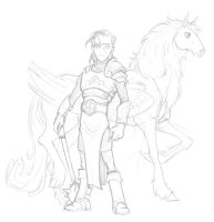 WIP Liceus and the  chevalion by Luzerrante