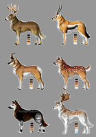 Stag Wolves Batch 1 [CLOSED] by MangaKidArt