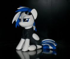 OC DJ Brony sculpture commission 2 by MadPonyScientist