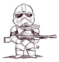 Chibi Trooper by dpdagger