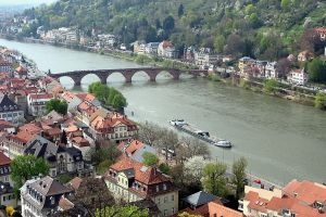 The Neckar River at Heidelberg by rudiger51