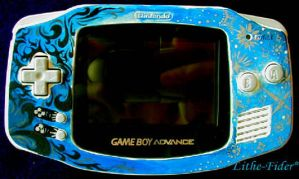 Painted Gameboy Advance Design by Lithe-Fider