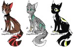CAT ADOPTS (1/3 OPEN) by SilverFeather-Adopts