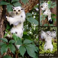 Arctic Owl Bear Doll by Sylvarant-Cross