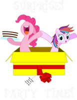 Pinkie Pie and Tiara Colour: SURPRISE! by TBCroco
