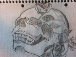 Skull and Roses by SmokeyDan13