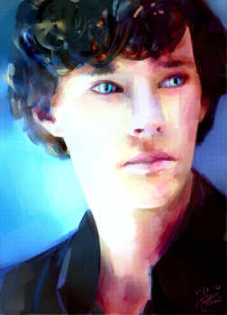 Sherlock by Laurenabees