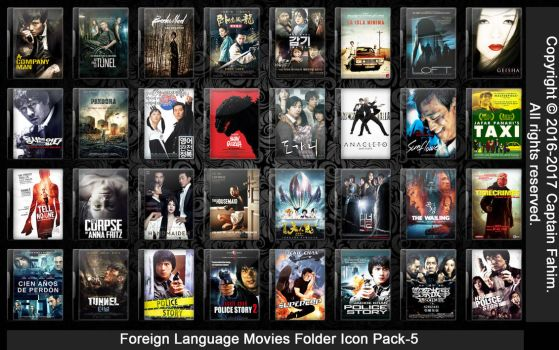 Foreign Language Movies Folder Icon Pack-5 by CaptainFahim