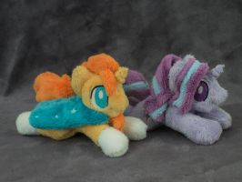 Starlight Glimmer and Sunburst Plushie for sale by Valmiiki