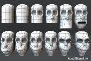 Bart Simpson step by step1 by Kuzey3d