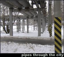 pipes through the city by snitt