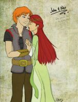 John and Ner for Pridipdiyoren by LindyArt