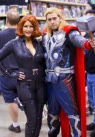 Black Widow and Thor Odinson Cosplay by captainjaze