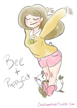 Bee and Puppycat Fanart by liekomgkristy