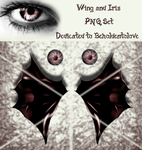 Wing and Iris PNG Set by VelmaGiggleWink