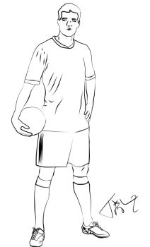 Soccer Player Line Art by Trish2