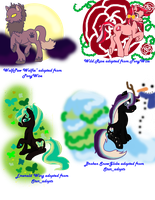 My Adopted Ponies Earth Types 1 by Sarahostervig