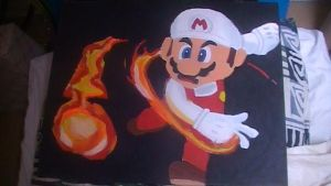 Fire Mario painting by Chaoslink1