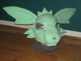 Jolteon mask in progress by Neon-Juma