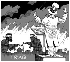 Sectarian war in Iraq by Latuff2
