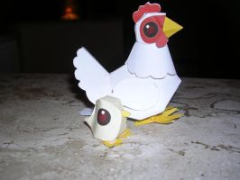 Chicken Papercraft by Tiffyx