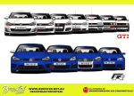VW Golf Gti and R generations by MauricioMassami